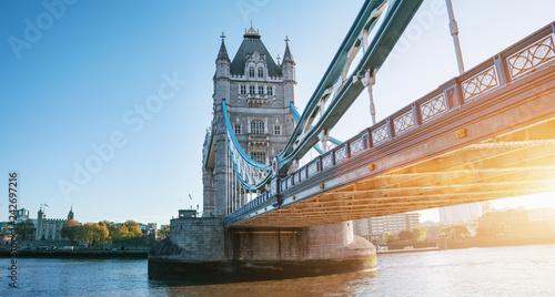 Leinwanddruck Bild The london Tower bridge at sunrise