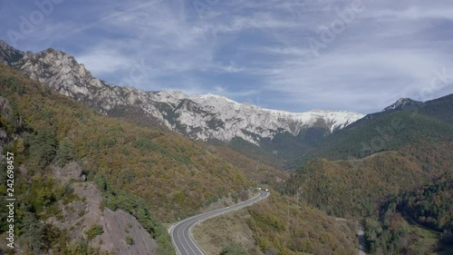 Set of Mountains in the Pyrenees on the Spanish half of the border