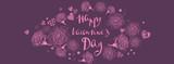 Valentines day doodles background - 242700224
