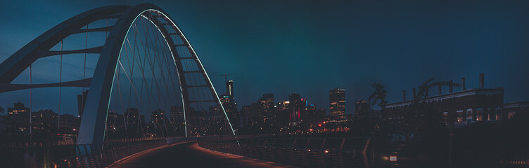 Edmonton Walter Dale Bridge night skyline © felipepinheiro