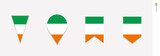 Ireland flag in vertical design, vector illustration
