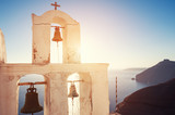 Old church at sunset on Santorini island, Greece - 242716696