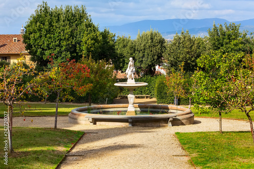 Fountain statue in Boboli gardens, Florence, Italy