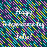 congrlations on the Independence Day of India on a colored geometric background