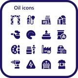 oil icon set - 242745403