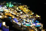 Beautiful view of Oia by night in Santorini - 242748080