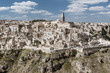 """Leinwanddruck Bild - Matera in region Bazylikata, Italy - commonly referred to as """"town carved out of the rock"""""""