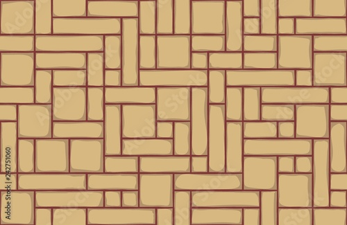 brick wall background, seamless pattern - 242751060