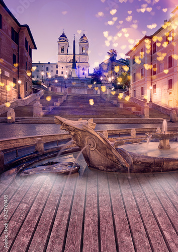 Romantic Rome. Lifestyle and celebration concepts background.