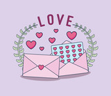 love card with envelopes - 242761403