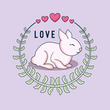 love card with rabbit - 242761494