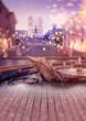 Quadro Romantic Rome. Lifestyle and celebration concepts background, blur