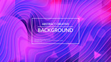 Bright abstract background with simple curvy lines and gradient colors of pink and blue