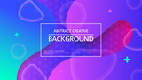 Contemporary vector backdrop with bright colorful abstraction and message box - 242772844