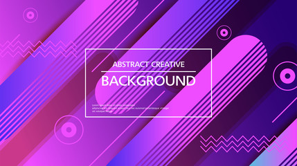 Abstraction of vector background design with simple graphic elements