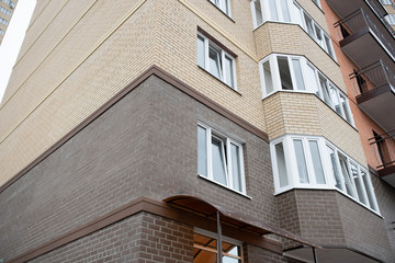 facade of a typical apartment new building