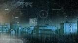 City skyline and scanners  - 242781240