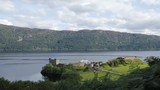 Timelapse of a castle ruins in Scotland Inverness on the coast of Loch Lomond. - 242787284