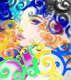 beautiful woman. fashion illustration. watercolor painting - 242797030