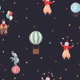 Watercolor circus pattern - 242805618