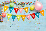 Happy Birthday bunting background - 242813688