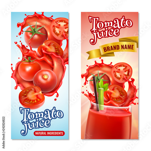 Tomato Juice Vertical Banners - 242826822
