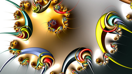 fractal design, digital art, Oriental pattern, geometric texture, Abstract background