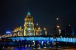 Russian Arcitecture with river and blue ights