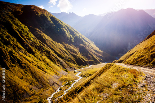 Captivating scene of the main Caucasus ridge.