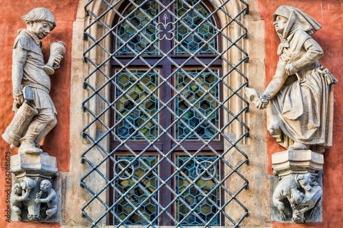 Breslau, Fassade am Alten Rathaus