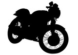 Retro motorcycle one white background
