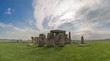 stonehenge in england on sunny day with light cloud
