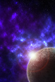 Fototapeta Space - entfernter Planet © ProdoBeutlin