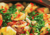 Braised Lamb Stew With Potatoes, Onions And Other Vegetables - 242890061