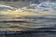 Leinwandbild Motiv Stormy sky over the sea. Tuscany, Italy