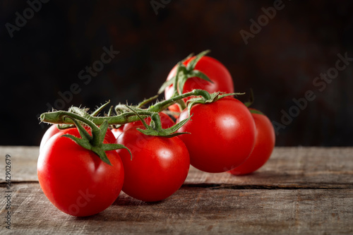 Fresh row cherry tomatoes