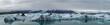 Eis in Gletscherlagune auf Island