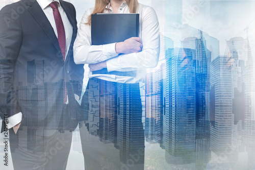 Business partners in city - 242911474