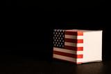 American box on black background - 242918004