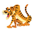 Agitated Cartoon Tiger - 242928082