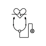 Black line icon for helthcare  - 242936429