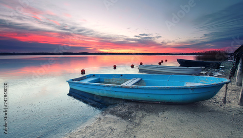 Leinwanddruck Bild Entspannung am See