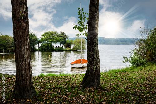 lac de Soustons dans les Landes