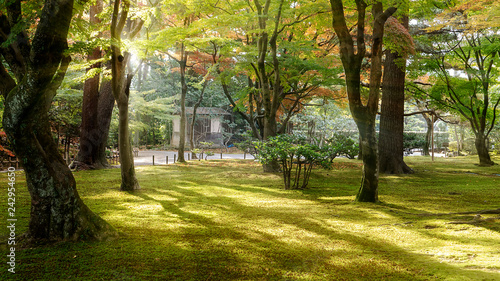 Famous Kenroku-en garden in Kanazawa, Japan