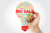 BIG SALE bulb word cloud with marker, business concept background - 242955869