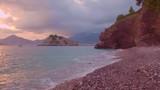 View of Sveti Stefan at sunset. Montenegro - 242962044