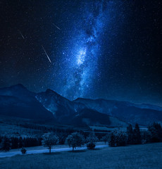Milky way over Tatra mountains in Slovakia
