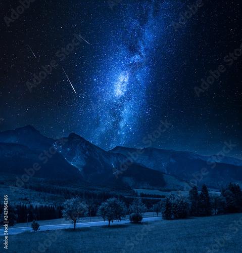 Milky way over Tatra mountains in Slovakia