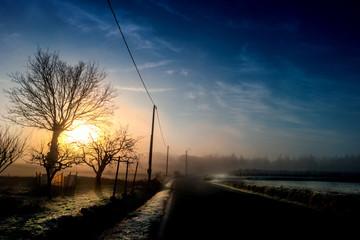 paesaggio all'alba al mattino in inverno © Giuseppe Porzani