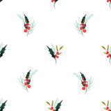 Watercolor floral pattern - 242975214
